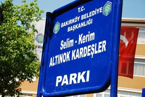 Selim-Kerim Altınok Kardeşler Parkı Tabelası